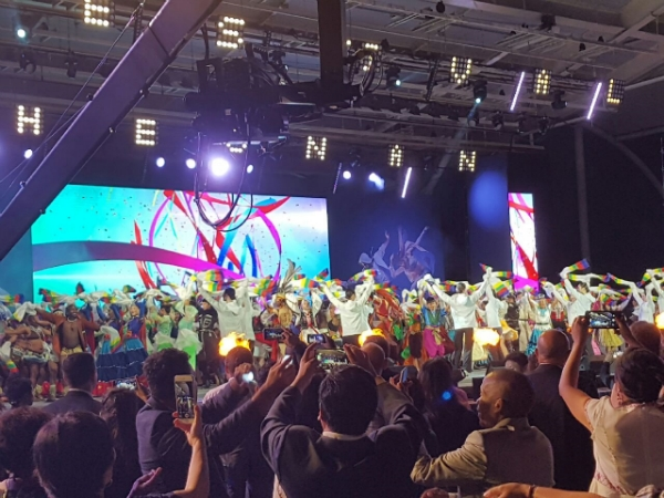 Gorgeous opening ceremony of the 2018 Cheonan World Dance Festival.