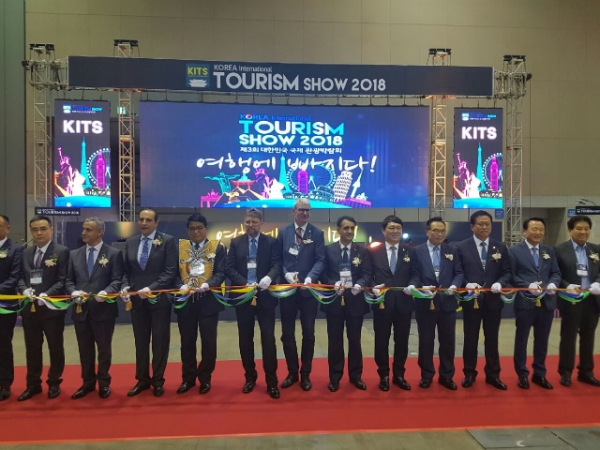 Diplomac community Ambs & VIPs attending in a cutting ceremony to mark the 3rd Korea International Tourism Show held last week in KINTEX.